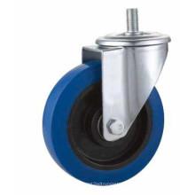 Kxx3-D Stem Swivel Type Blue Rubber Industrial Caster