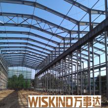 Structure en acier légère préfabriquée avec la maison de toit de pignon