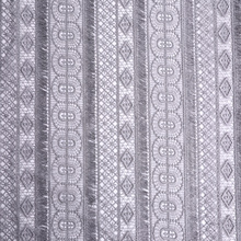 Classic Polyester Geometry Tassel Guipure Embroidery Fabric