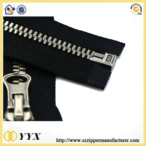 nickel brass metal zipper