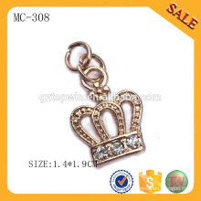 MC308 Hang tag supply gold brand metal chain tag for clothing