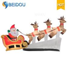 Decoraciones gigantes Navidad Inflable trineo Inflable al aire libre Trineo de Navidad