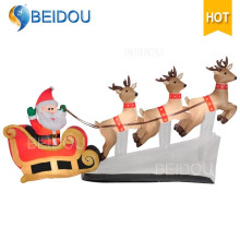 Giant Decorations Christmas Inflatable Sleigh Outdoor Inflatable Christmas Sleigh
