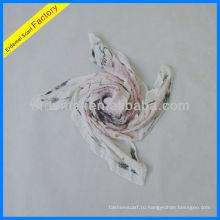 Красочный бабочка цифровой печати шарф вискозы