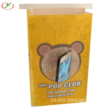 popcorn kraft paper bag with window
