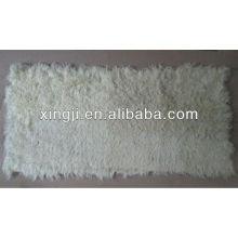 piel de cordero kalgan piel placa grande rizo color blanco natural