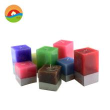 Wholesale New design customizable square pillar plastic candle