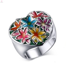 New Arrival Stainless Steel Silver Colorful Flower Rings Jewelry
