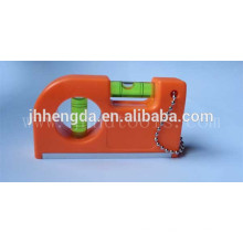 HD-MN14, régua de bolso mini plástico 3 frascos, nível de alumínio