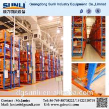 Cremalheira resistente do armazenamento industrial estreito do corredor