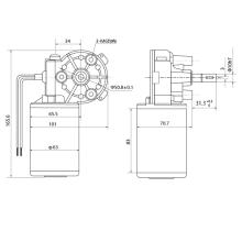 Maintex 24V 80W 320rpm Worm Gear Motor