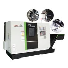Taiwan dual spindle cnc lathe 3 Axis 5 axis metal turning slant bed cnc lathe machine price