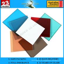6.38-42.3mm de vidrio laminado PVB laminado con AS / NZS2208: 1996