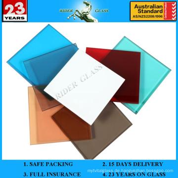 6.38-42.3mm Ocean Blue PVB Laminiertes Glas mit AS / NZS2208