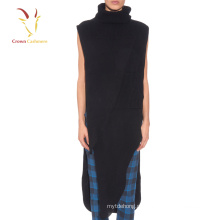 Mulheres Fancy Fitted Fuzzy Black Sweater