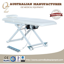 Canapé de physiothérapie de Tableau électrique blanc de traitement avec la table de traitement orthopédique de roue