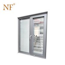 White Color Double Glass Vinyl PVC Casement Windows for Home Building