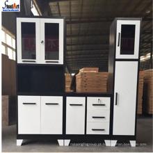 Projetos simples do armário de cozinha barato modular do armário da despensa