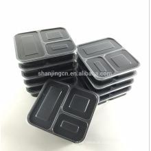 Recipientes refeição Prep bpa livre, reutilizável, laváveis, compartimento bento caixa 3 com tampas herméticas