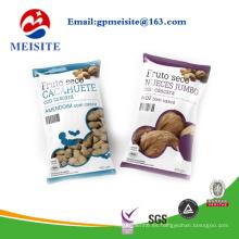 Personalizado y la impresión de plástico bolsa / bolsa para el embalaje de nueces