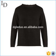 Suéter negro de calidad superior último fabricante de diseño de suéter en China