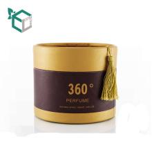 China suppliers ROUND custom logo printed luxury perfume box for perfume bottle