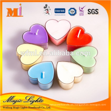 La materia prima respetuosa del medio ambiente del nuevo estilo modificó para requisitos particulares las tazas elegantes de la vela del Tealight de la forma del corazón