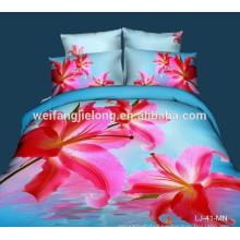 comfortable 100% polyester 3d bedsheet fabric