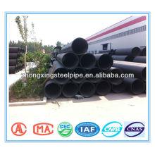 Tubulação do HDPE de ventilação ondulado com cinta de aço reforçada