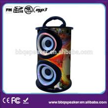 BQ-06 Kartenleser Tragbarer Holz Lautsprecher mit FM Radio und SD USB Eingang