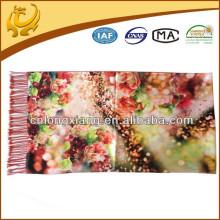 2015 New Fashion Colorful Womens Tassel Pashmina Wrap imprimé style foulards châles