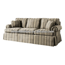 French style stripe fabric living room sofa XY0978