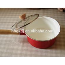 printed enamel saucepan pots with glass lid