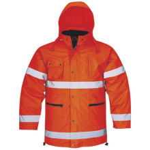 5 in 1 High Visibility Winter Parka Waterproof Clothing Safety Reflective Jacket Adult′s