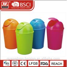 Colorful plastic dustbin