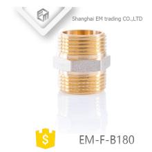 EM-F-B180 Conexión de tubería de unión hexagonal de latón macho