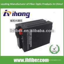10 / 100M Fiber Optic Media Converter Singlemode Dual Fiber FC Port 20km