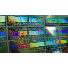 Custom printed various laser hologram security holographic adhesive sticker
