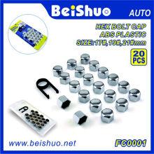 20 + 1PCS ABS пластиковых шестигранных болтов колеса Topper Caps Set