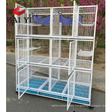 Factory Price Wholesale Outdoor Indoor Folding Big Large Metal Pet Cat Cage