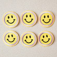 Yellow smile face DIY patch fashion Fabric Embroidery