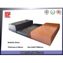 Plaque en papier phénolique orange et noir avec grand stock
