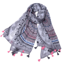 Premium custom label vietnam scarf wholesale printing hijab scarf shawls