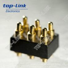 6 pin mola impermeável carregado pogo pin conector