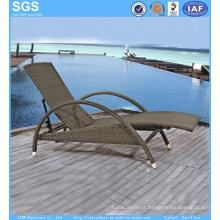 Resort Hotel Wicker Furniture PE Rattan Dom Lounger