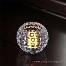 Castiçal de cristal para decoração de Natal