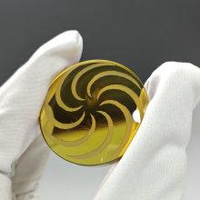 Lentilles plano convexes avec impression à motifs Lentille colorée