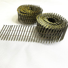 Bulk Flat Collated Wire Common Pallet holding Coil Nails