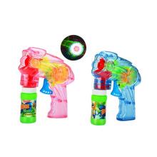 Pistola de burbujas de fricción transparente de plástico con luz (10221059)
