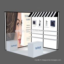 Detian offre beauté exposition stand exposition portable stand équipement de salon